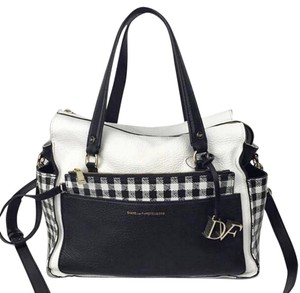 Diane von Furstenberg Satchel in Black & White