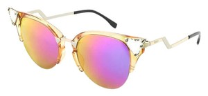 Fendi 0041/S Crystal 52mm Tipped Cat Eye Sunglasses Transparent Peach