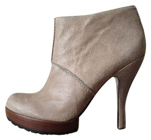 Modern Vintage Bootie Heeled Taupe Boots