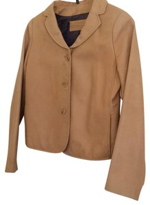 Tristan & Iseut Camel Leather Jacket