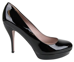 Gucci Patent Leather Heel Black/1000 Platforms