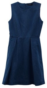 Kate Spade short dress Blue Denim Pockets Chambray A-line on Tradesy