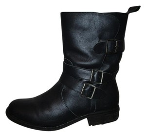 Lane Bryant Leather Ankle Moto Riding black Boots