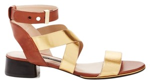French Connection Gold / Tan Sandals