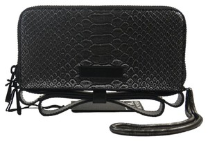 Zac Posen Snakeskin Milla Wallet New Wristlet in Sliver/Black