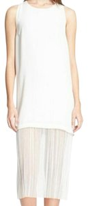 White Maxi Dress by Elizabeth and James Kisa Crepe Gauze Layered