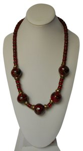 Handmade Greek Ceramic Bead Necklace