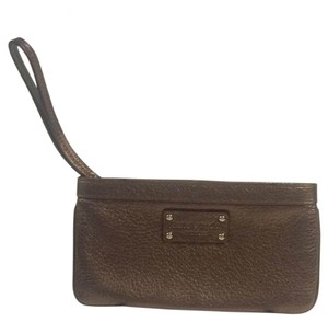 Kate Spade Wristlet in Metallic Bronze
