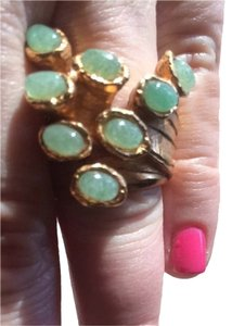 Saint Laurent Yves Saint Laurent Green Arty Dots Ring