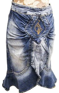Baby Phat Stretchy Skirt Denim Medium wash