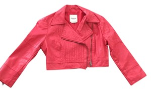 bebe Coral Leather Jacket