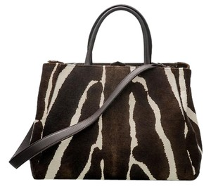 Fendi Satchel in Brown, Zebra