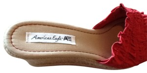 American Eagle Outfitters red and natural wedges Wedges