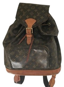 Louis Vuitton Montsouris Mm Leather Backpack
