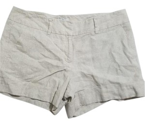 New York & Company Beige Shimmer Silver Canvas Shorts Silver Biege