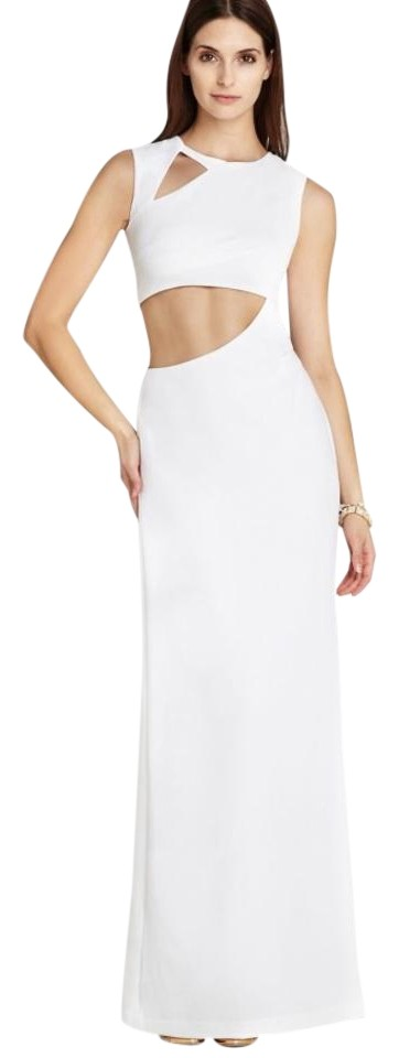 BCBGMAXAZRIA White Kimora Long Formal Dress Size 6 (S) - Tradesy