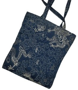 Other Dragon Chinese Mini Accent Satchel in Blue / Silver