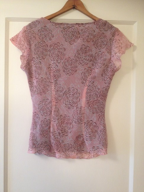 East 5th Essentials Sheer Office Top Pink Floral