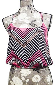 Charlotte Russe Top Black, Pink, White