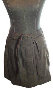 Elie Tahari Mini Skirt Olive brown