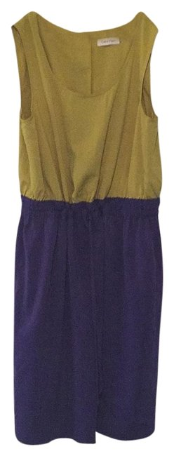 Preload https://img-static.tradesy.com/item/18416752/calvin-klein-purple-and-lime-above-knee-workoffice-dress-size-10-m-0-1-650-650.jpg