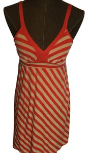 Ella Moss short dress Orange and beige striped on Tradesy