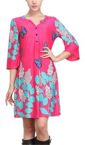 Reborn short dress Hot Pink Butterfly Tunic on Tradesy