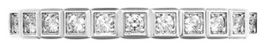 Chopard Chopard 18K White Gold Mini Ice Cube 0.12Ct Diamond Ring Size 4