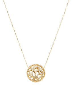 Nanis Italian Jewels 18K Yellow Gold & 0.22 Total Ct. Diamond Floral Pendant Necklace