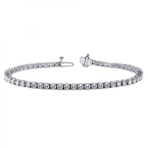 Avi and Co 6.70 cttw Round Brilliant Cut Diamond Four Prong Tennis Bracelet