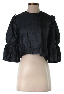 Stella McCartney Silk Cropped Navy Jacket