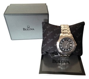 Bulova MENS BULOVA WINTERMOOR COLLECTION Grey Dial Stainless Steel Round Watch 96B169
