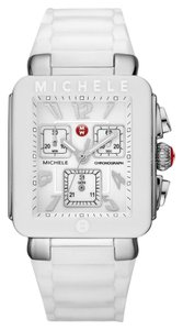 Michele NEW Tahitian Jelly Bean Park White Silicone MWW06L000001 Ladies Watch