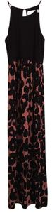 Melon black print Maxi Dress by Ann Taylor LOFT