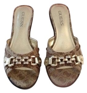 Guess Light brown- Natural Multi Fabric Sandals