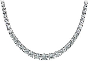 Avi and Co 9.00 cttw Round Cut Diamond Graduated Tennis Necklace F-G/VS-SI