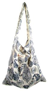 Free People Paisley Fabric Purse Tote in White