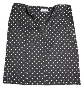 D&W Collection & Rockabilly Pencil Skirt polka dot black & white