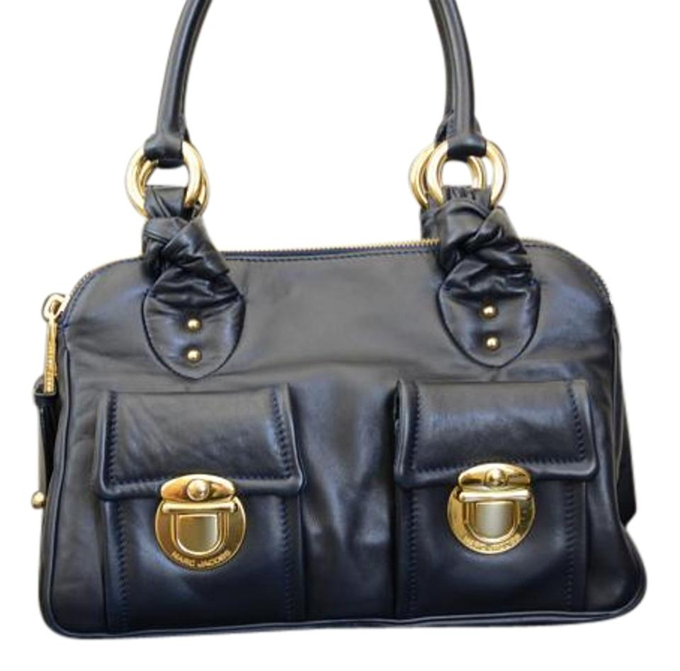 f49627ff100 Marc Jacobs Blake Leather Satchel in Navy Image 0 ...