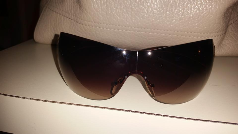 444147b0ced Prada PRADA AVIATOR WRAP AROUND SUNGLASSES Image 4. 12345