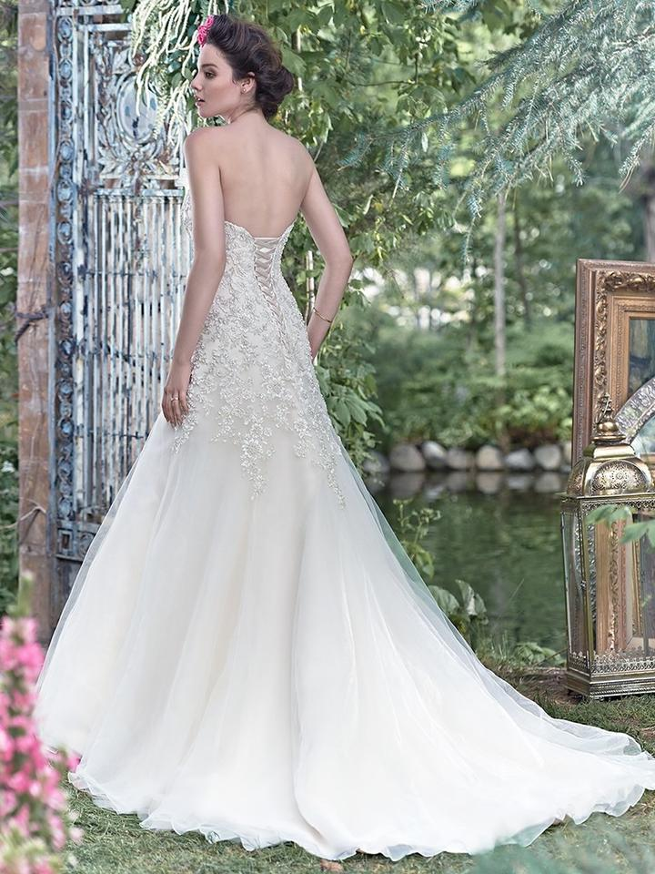 Maggie Sottero Ivory/Silver Tulle Ladonna Traditional Wedding Dress ...
