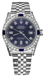Rolex Rolex 36mm Datejust Navy Blue Dial with Sapphire & Diamond