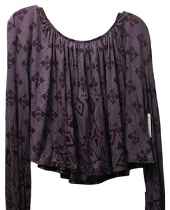 Free People Top Washed Plum