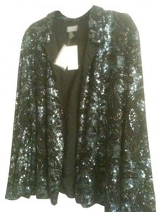 Chico's Sequin Embellished Beading Black Blazer