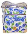 Dooney & Bourke Bougainvillea Flower Floral Cross Body Bag