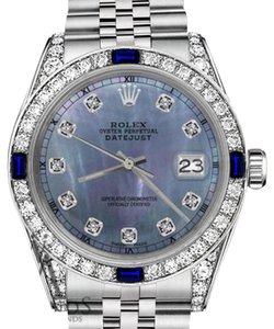 Rolex Women's Rolex 31mm Datejust Tahitian MOP Dial with Sapphire & Diamod