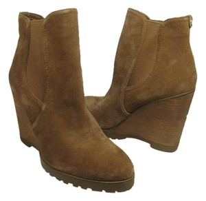 Michael Kors Wedge Tan Suede CARAMEL Boots