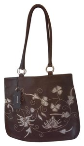 Berge Embroidered Leather Morris Shoulder Bag