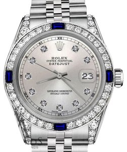 Rolex Women's Rolex 31mm Datejust Silver Dial with Sapphire & Diamond Watch