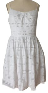 J.Crew short dress White Cotton Lace Fit And Flare on Tradesy